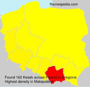Familiennamen Kesek - Poland