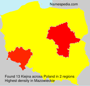 Surname Kiejna in Poland