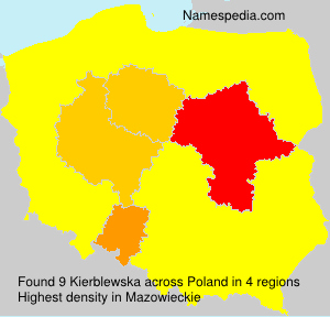 Surname Kierblewska in Poland