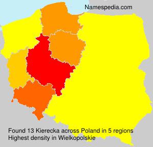 Familiennamen Kierecka - Poland