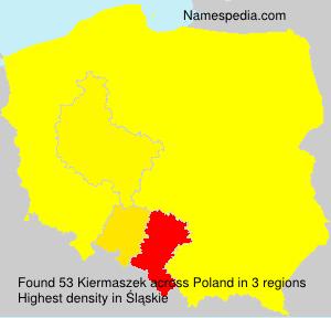 Surname Kiermaszek in Poland