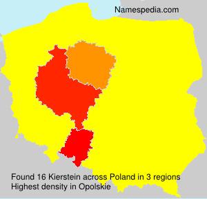 Familiennamen Kierstein - Poland