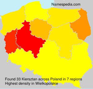 Surname Kiersztan in Poland