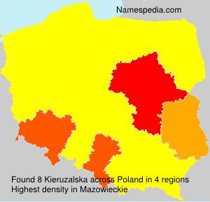 Familiennamen Kieruzalska - Poland