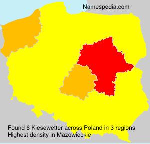 Familiennamen Kiesewetter - Poland
