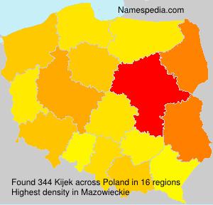 Familiennamen Kijek - Poland