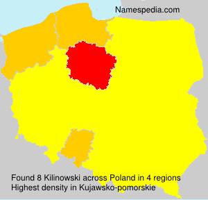 Surname Kilinowski in Poland
