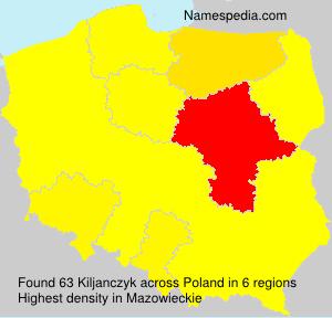 Surname Kiljanczyk in Poland