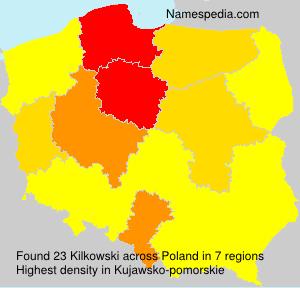 Surname Kilkowski in Poland