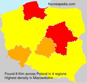 Familiennamen Kim - Poland