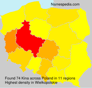 Surname Kina in Poland