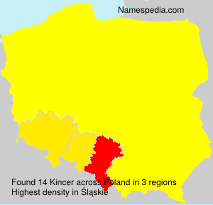Surname Kincer in Poland