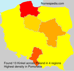 Familiennamen Kinkel - Poland