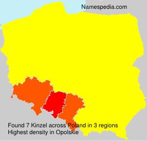 Surname Kinzel in Poland