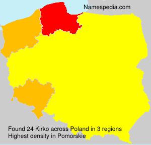 Familiennamen Kirko - Poland