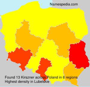 Familiennamen Kirszner - Poland