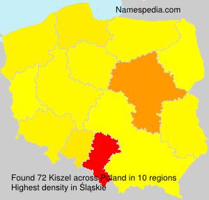 Familiennamen Kiszel - Poland