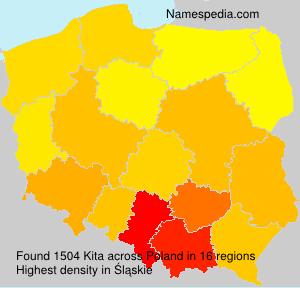 Surname Kita in Poland