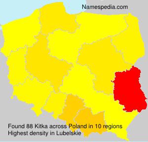 Surname Kitka in Poland