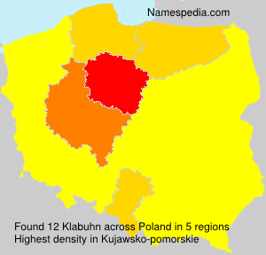 Familiennamen Klabuhn - Poland