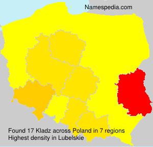 Familiennamen Kladz - Poland