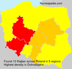 Surname Klajber in Poland