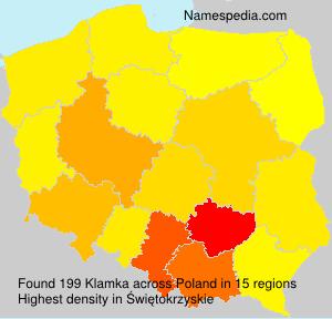 Familiennamen Klamka - Poland