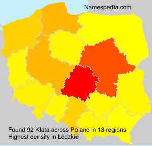 Surname Klata in Poland