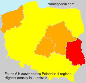 Surname Klauser in Poland