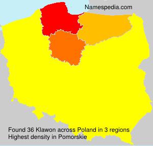 Surname Klawon in Poland