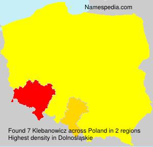 Familiennamen Klebanowicz - Poland