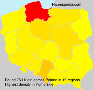 Surname Klein in Poland