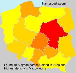 Surname Klejman in Poland