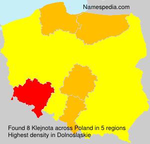 Surname Klejnota in Poland