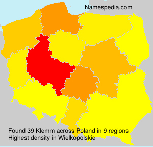 Surname Klemm in Poland