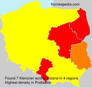 Familiennamen Klencner - Poland