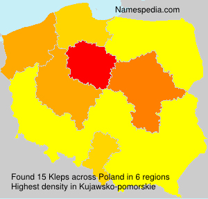 Surname Kleps in Poland