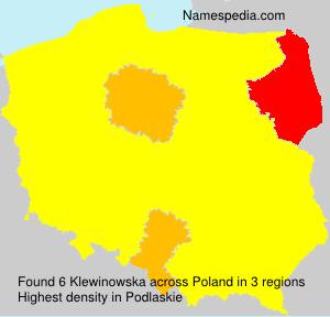 Surname Klewinowska in Poland
