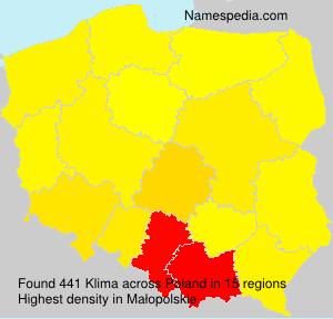 Familiennamen Klima - Poland