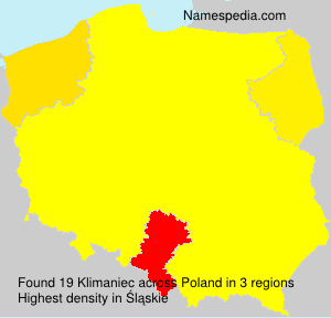 Surname Klimaniec in Poland