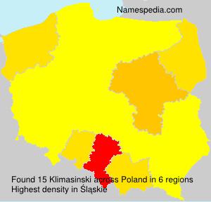 Surname Klimasinski in Poland