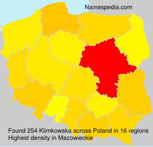 Surname Klimkowska in Poland