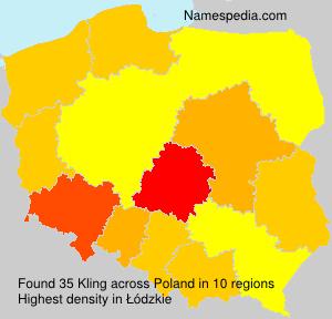 Familiennamen Kling - Poland