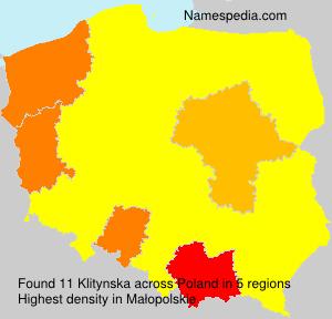 Familiennamen Klitynska - Poland