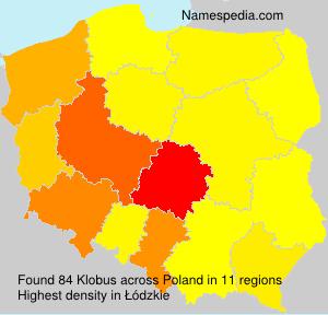 Surname Klobus in Poland