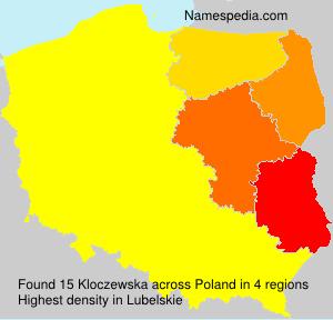 Surname Kloczewska in Poland