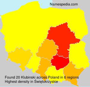 Surname Klubinski in Poland