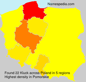 Surname Kluck in Poland