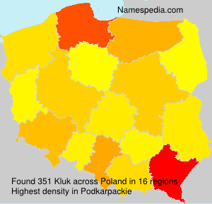 Familiennamen Kluk - Poland
