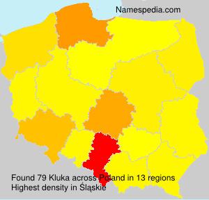Familiennamen Kluka - Poland
